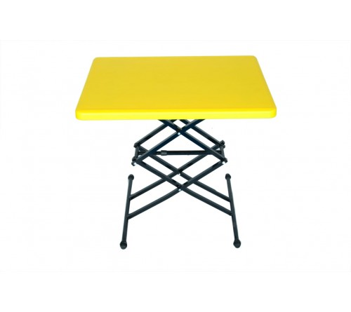 TABLE MATE - HEAVY WEIGHT MULTIPURPOSE TABLE FOR STUDY, OFFICE WORK, HOME USE - YELLOW