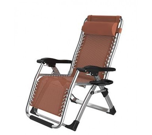 Zero Gravity Chair Fashion Modern Portable Folding Camping Chair Recliner Outdoor Folding Easy Chair (BROWN)