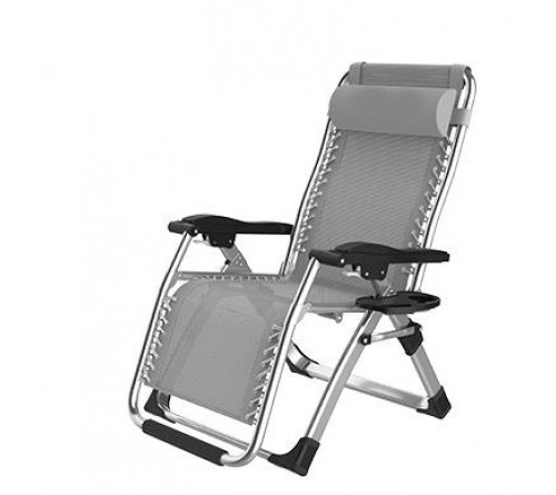 Zero Gravity Chair Fashion Modern Portable Folding Camping Chair Recliner Outdoor Folding Easy Chair (Black)